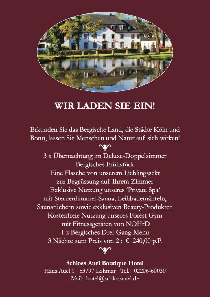 Schloss Auel Boutique Hotel - Wir laden Sie ein